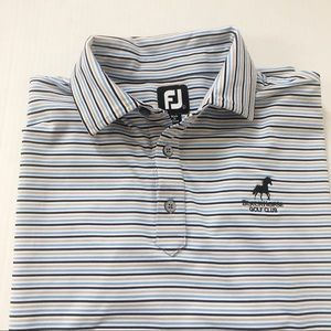 Footjoy Striped Black Horse Golf Club Shirt Sz XXL